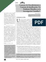 contexto de descubrimiento y contexto de justificiación. un problema filosófico en la investigación científica..pdf