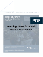 Sat Pm 330 Westerberg Dyanne Neurology Notes for Boards
