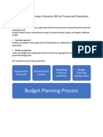 Basics of Budgeting Planning in Dynamics 365 for Finance and Operations