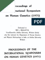 Human Genetics 1971 (1)