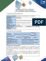 Guía de actividades y Rúbrica de evaluación - Fase 5. Trabajo de reconocimiento Unidad 3_