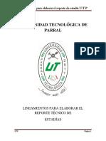 Lineamientos Memoria TSU 22-May-17[1]