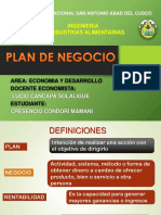 Plan de Negocio Iiiencuentropataz