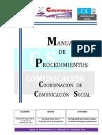 Manual de Procedimientos Comunicacion Social 2017-2021 Definitivo