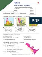 Dinosaur Who Lost His Roar Worksheet