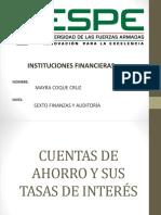 CUENTAS DE AHORROS Y TASAS DE INTERÉS.pptx