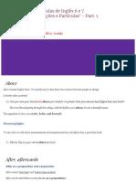 Aulas de Inglês 6 e 7 'Preposições e Particículas'
