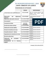 CRONOGRANA DE ACTIVIDADES DE LAS ELECCIÓN DEL MUNICIPIO ESCOLAR 2017.docx