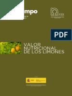 Valores Nutricionales Limones
