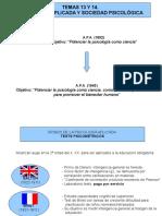 Temas 13 y 14. Psicología Aplicada Uned