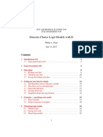 Discrete-Choice Logit Models With R