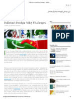 Pakistan's Foreign Policy Challenges