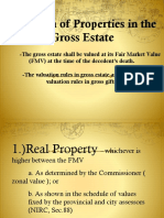Taxation Report - Valuation of properties - vanishing deduction
