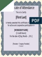 Certificate Template (Blank)