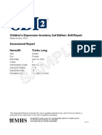 CDI 2 Self-Report Assessment Report_SAMPLE
