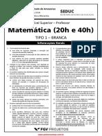 Nivel Superior Completo Professor 20 e 40h - Matematica Tipo01