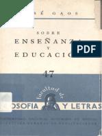 47_J_Gaos_Sobre_enseñanza_y_educacion_1960
