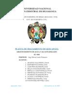 PLANTA DE TRATAMIENTO DE QUICAPATA