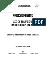P-SEG-SIG-003 Uso de Equipos de Protección Personal