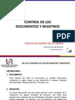 Curso-taller de Control de Documentos y Registros