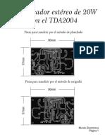 Amplificador Estéreo de 20W Con TDA2004