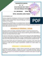 Diagnostico Grupal 3o a. 2017-2018