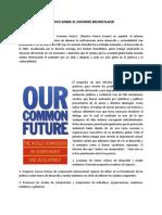 Ensayo Sobre El Informe Brundtland