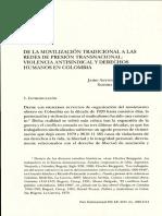 Movilización Tradicional a Redes de Presión Transnacional, Violencia Antisindical y Ddhh en Col (2015)