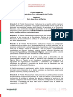 Estatutos PRI