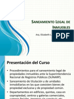 Saneamiento Legal de Inmuebles
