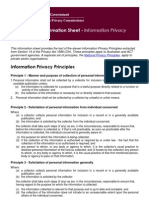 Information Sheet Public Sector 1 - Information Privacy Principles Under the Privacy Act 1988[1]