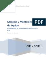 Componentes de Un Sistema Microinformatico