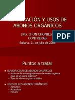 Elaboración y Uso de Abonos Orgánicos-TIPOS