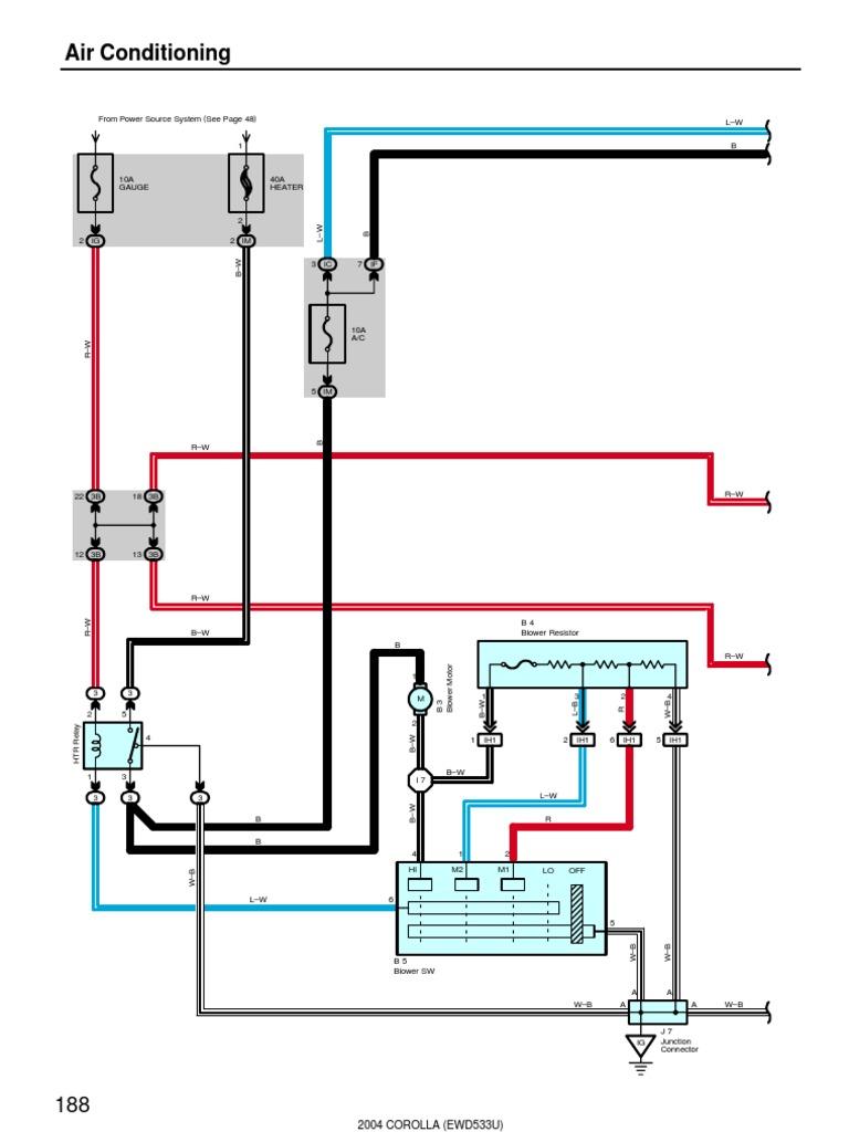 2004 Corolla Air Conditioning Wiring Diagram   Rotating Machines   Physical  QuantitiesScribd