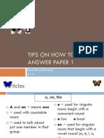 Tips Menjawab Kertas 1 Bahasa Inggeris UPSR.pptx