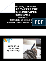 Upsr Section b 014 Tip Off 2017