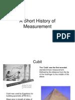History of Measurements