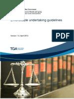 Enforceable Undertaking Guidelines