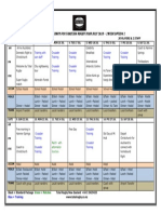 Tahiti Rugby Tour 2018 Draft Itinerary Overview - 2 Week Option 2
