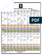 Tahiti Rugby Tour 2018 Draft Itinerary Overview - 3 Week Option