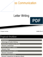 Chapter 8 - Letter Writting