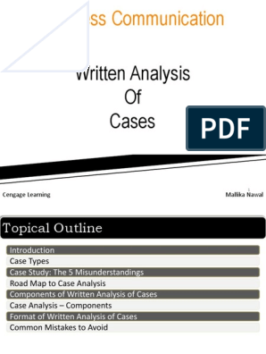 Chapter 7 - Written Analysis of Cases | Case Study | Hypothesis