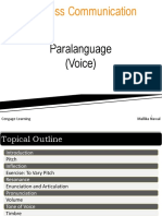 Chapter 4 - Paralanguage (Voice)