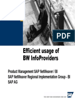 Efficient Usage of BW InfoProviders