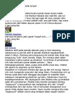 Penjelasan Syariat Marifat Toriqoh