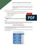 Formato para la entrega de documentos electrónicos