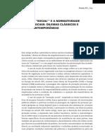 A Invenção Do Social e a Normatividade Das Ciencias Sociais