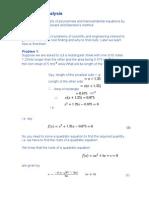 Numerical Analysis 2210