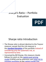 04. Sharpe's Ratio – Portfolio Evaluation