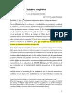"""Reseña """"ciudadano Imaginarios"""" de Ferando Escalante"""